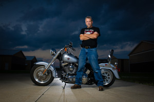 Tony Lafferty Self Portrait - Harley Davidson