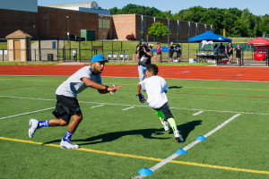 Golden Tate Coaching Football Camp by Tony Lafferty Photography